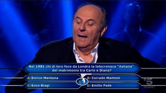 Chi vuol essere milionario diretta 19 febbraio - Stefano Caligione sesta domanda utilizza il Chiedi a Gerry