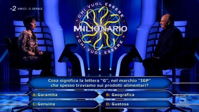 Chi vuol essere milionario diretta 26 febbraio - Seconda domanda Laura Leonardi