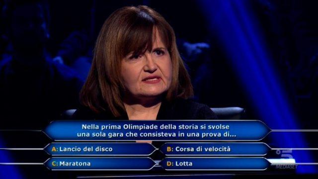 Chi vuol essere milionario diretta 19 febbraio - Maria Cristina De Gregorio domanda numero nove