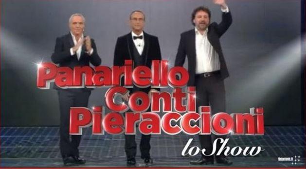 Panariello Conti Pieraccioni lo show, diretta 14 febbraio Rai 1