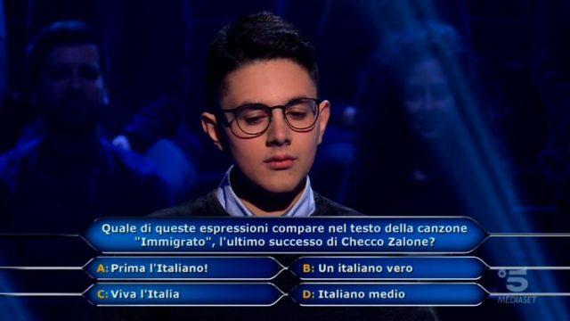 Prima domanda Marco Mancini