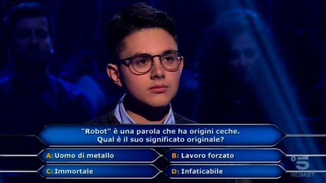Chi vuol essere milionario diretta 19 febbraio - Marco Mancini utilizza il Chiedi a Gerry
