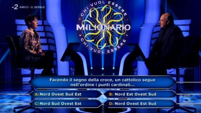 Chi vuol essere milionario diretta 26 febbraio - la quinta domanda di Laura Leonardi