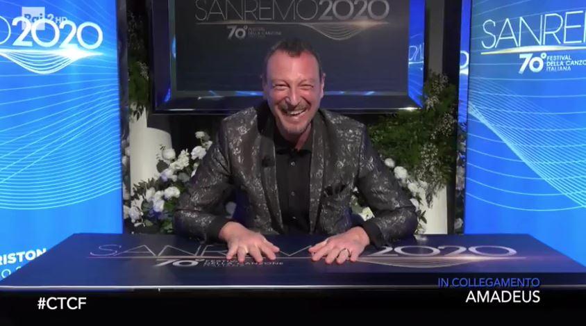 Sanremo 2020 Amadeus ride