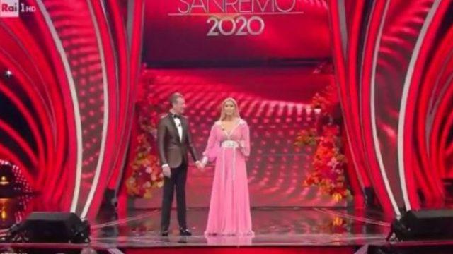 Sanremo 2020 quarta serata 7 febbraio - Conduttrici Antonella Clerici e Francesca Sofia Novello