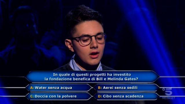 Chi vuol essere milionario diretta 19 febbraio - Settima domanda Marco Mancini