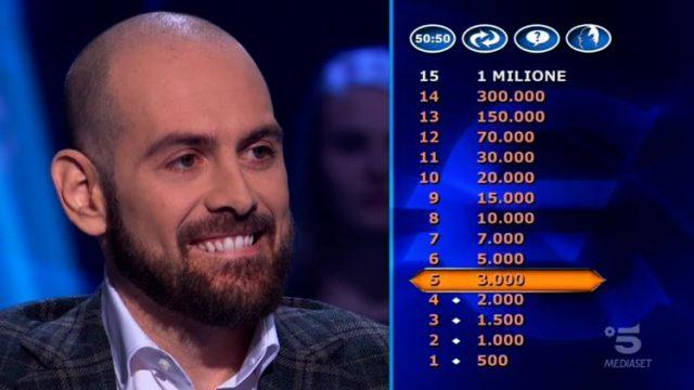 Terzo concorrente Stefano Caligione