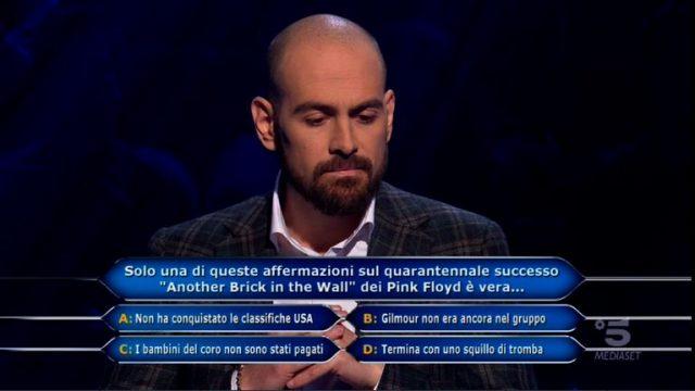 Stefano Caligione fissa il traguardo a 20mila euro e risponde alla decima domanda