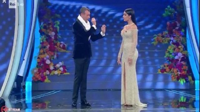 Sanremo 2020 look 6 febbraio Giorgina Rodriguez