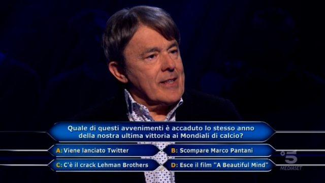 Chi vuol essere milionario diretta 4 marzo - La decima domanda di Paolo Gei