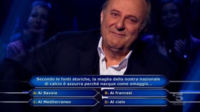 Chi vuol essere milionario diretta 4 marzo - Gerry Scotti commosso durante la puntata