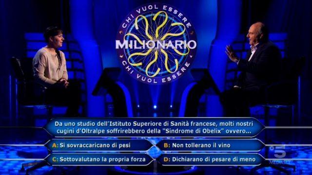 Chi vuol essere milionario diretta 4 marzo - Dodicesima domanda Laura Leonardi