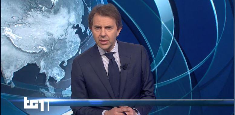 Speciale Tg1 Italia tutti a casa - Giorgino sostituisce Vespa in quarantena