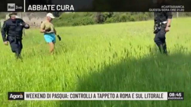 Agorà - Uomo rincorso nel Aprco dell'Appia Antica