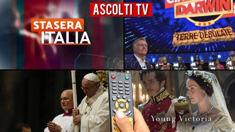 Ascolti TV sabato 11 aprile 2020