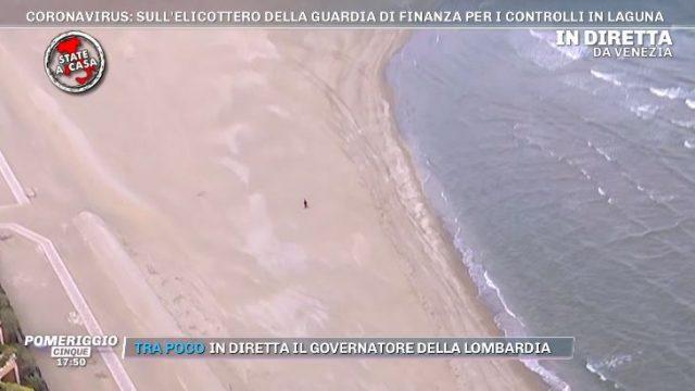 Coronavirus Pomeriggio Cinque Agorà - L'inseguimento con elicotteri e droni diventa spettacolo