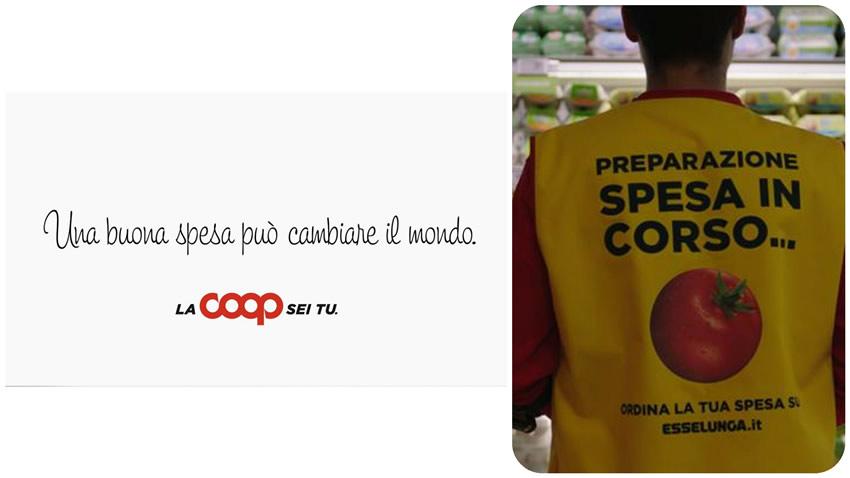 Pubblicità ai tempi del coronavirus Coop Esselunga