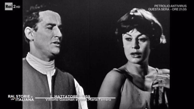 Rai storie di un'italiana 16 maggio - Vittorio Gassman durante Il Mattatore