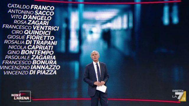 Non è l'Arena video Adriano Celentano - Massimo Giletti elenca i nomi dei boss scarcerati