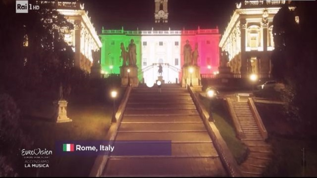 Europe shine a light campidoglio