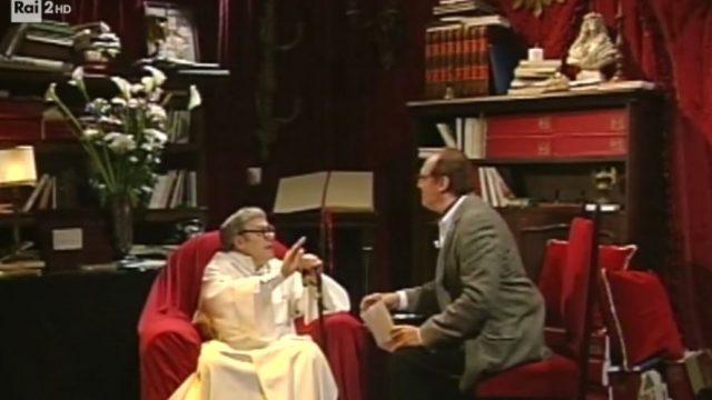 Striminzitic diretta 8 giugno - Carlo Verdone e Renzo Arbore durante un sketch in Meno siamo meglio stiamo