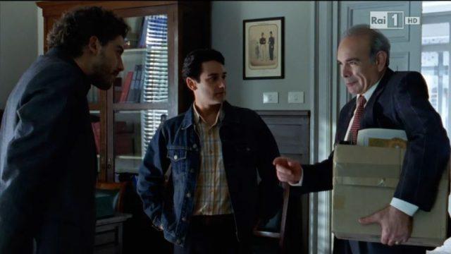 Carmine e Giuseppe Fazio con il giovane Montalbano