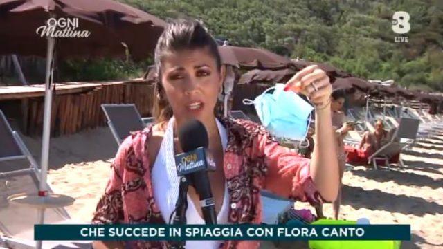 Flora Canto in diretta da Sabaudia