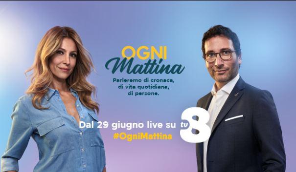 Ogni mattina diretta 29 giugno su Tv8 - Con Alessio Viola e Adriana Volpe