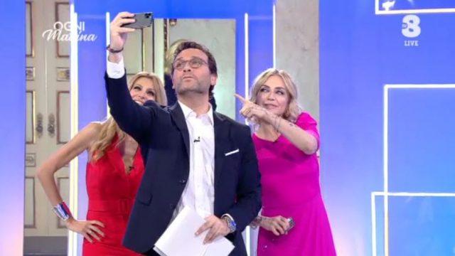 Il selfie finale con Paola Barale