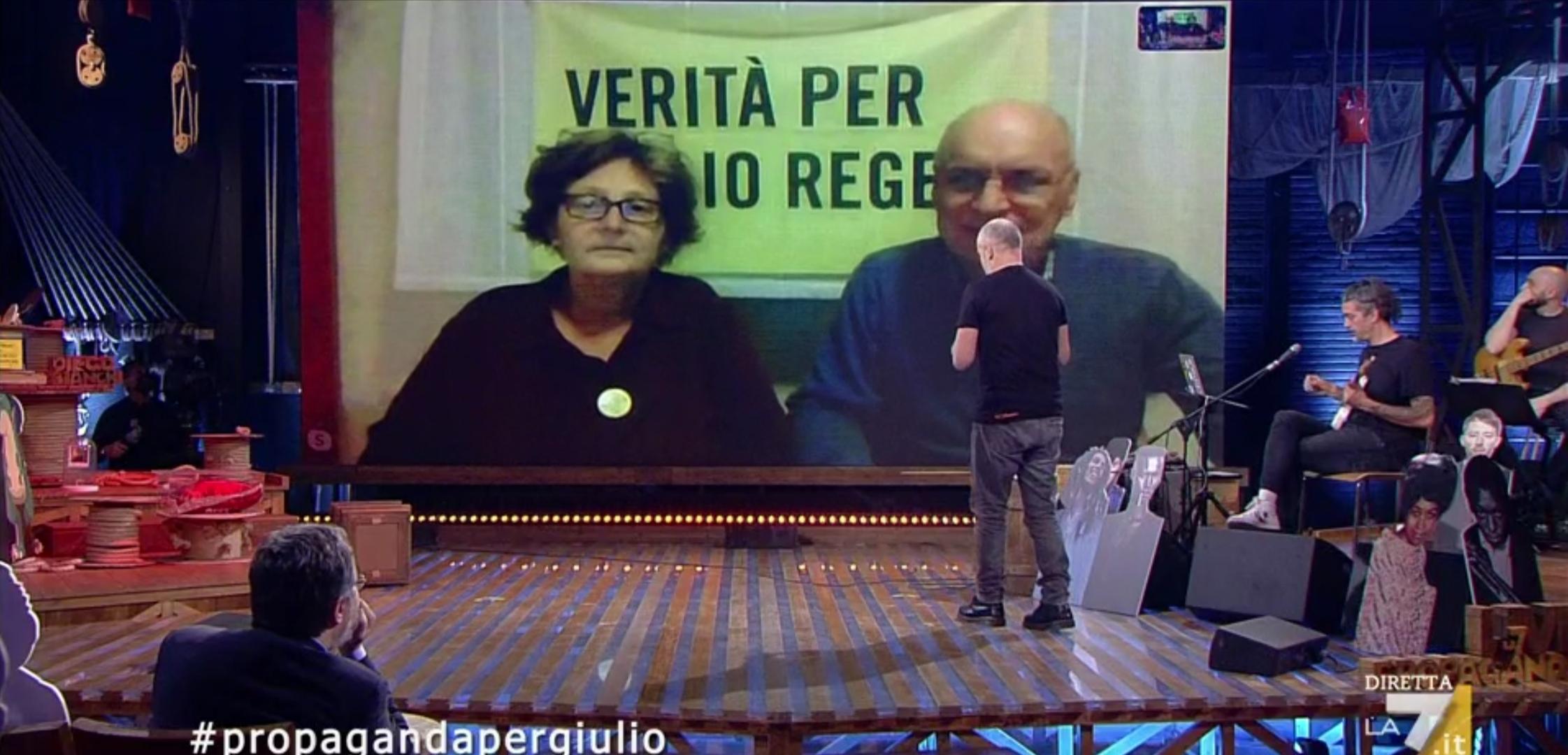 Propaganda live genitori Regeni copertina
