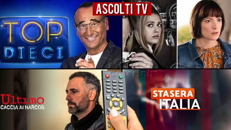 Ascolti TV venerdì 3 luglio 2020