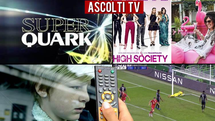 Ascolti TV mercoledì 19 agosto 2020