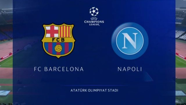 Champions ritorno ottavi Barcellona - Napoli