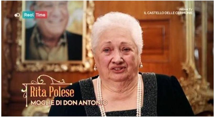 Il castello delle cerimonie morta Donna Rita