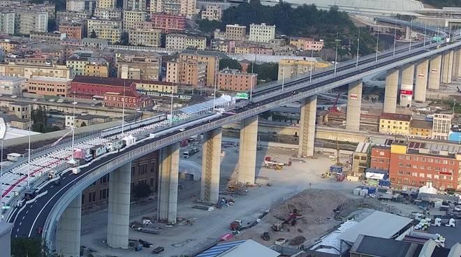 Ponte di Genova inaugurazione tv