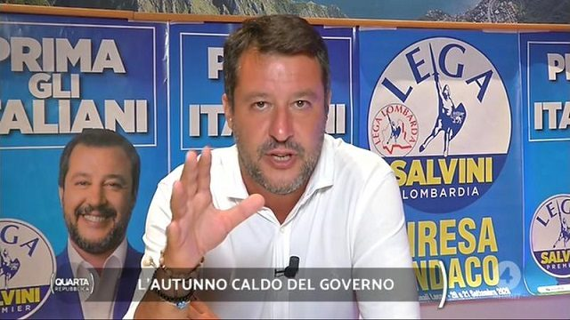 Quarta Repubblica diretta 31 agosto salvini