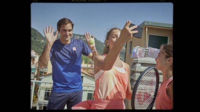 Spot in TV Barilla Federer - Il selfie con le giovani tenniste liguri