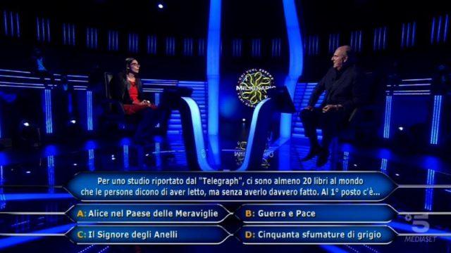 Chi vuol essere milionario diretta 10 settembre - La nona domanda di Antonella Alemanni