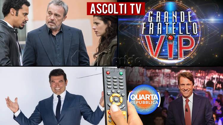 Ascolti TV lunedì 28 settembre 2020