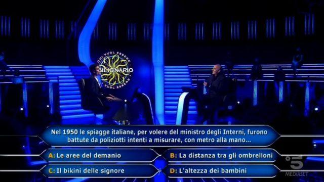 Chi vuol essere milionario diretta 10 settembre - Domanda numero sette Federico Lombardi