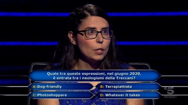 Chi vuol essere milionario 17 settembre diretta - Antonella Alemanni decima domanda