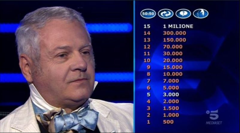Chi vuol essere milionario 22 settembre, diretta, concorrenti, domande