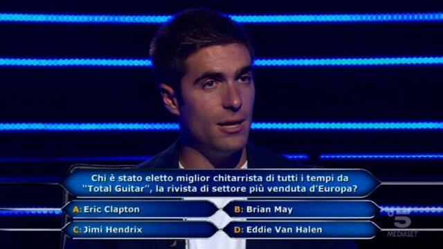 Chi vuol essere milionario diretta 10 settembre - Federico Lombardi domanda numero nove
