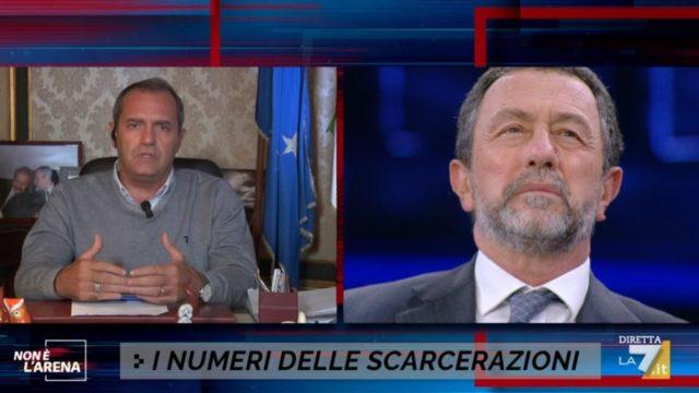 Non è lArena diretta 27 settembre - Luigi De Magistris e Gian Domenico Caiazza