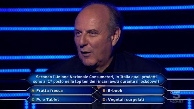 Chi vuol essere milionario diretta 10 settembre - Sesta domanda Federico Lombardi