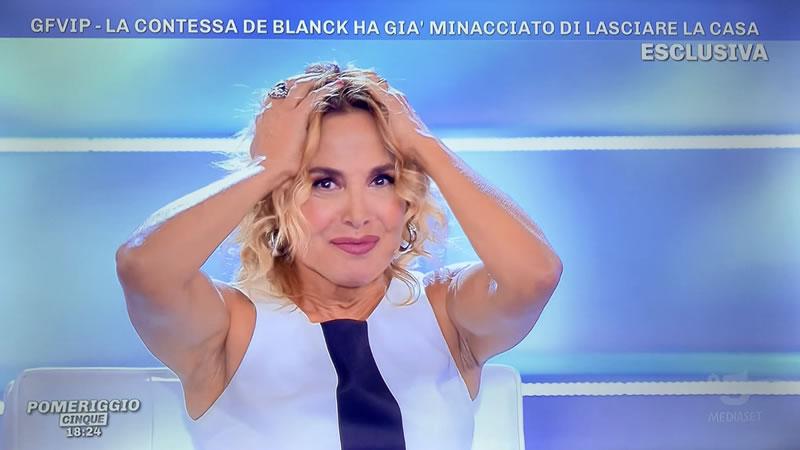 Patrizia De Blanck nuda stupore Barbara D'Urso