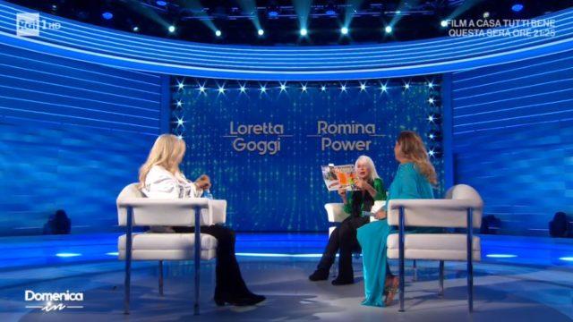 Domenica In diretta 13 settembre - Loretta Goggi e Romina leggono il fotoromanzo