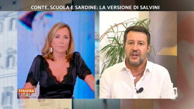 Stasera Italia diretta 14 settembre salvini