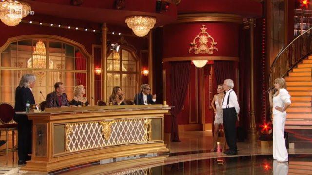 Tullio Solenghi davanti alla giuria