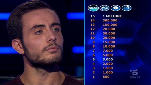 Chi vuol essere milionario 22 settembre, diretta - Il secondo concorrente è Vittorio Nalbone